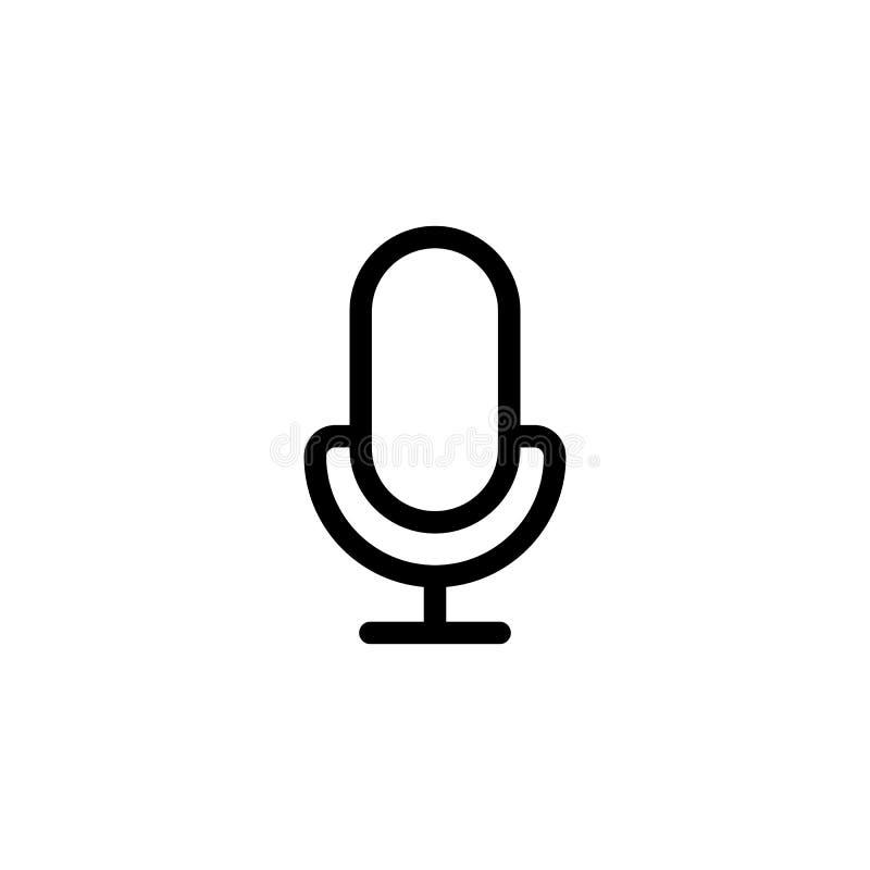 μικρόφωνο γραμμών, mic εικονίδιο στο άσπρο υπόβαθρο απεικόνιση αποθεμάτων
