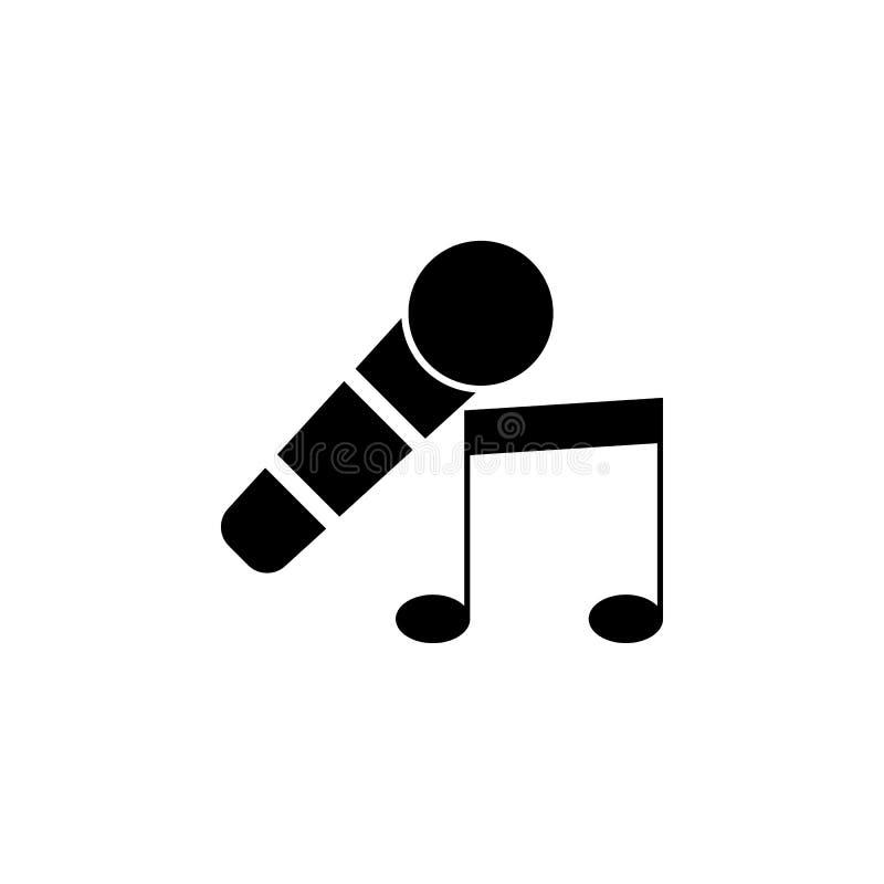 μικρόφωνο και μουσικό εικονίδιο σημειώσεων Στοιχείο του θεάτρου και της απεικόνισης τέχνης Γραφικό εικονίδιο σχεδίου εξαιρετικής  διανυσματική απεικόνιση