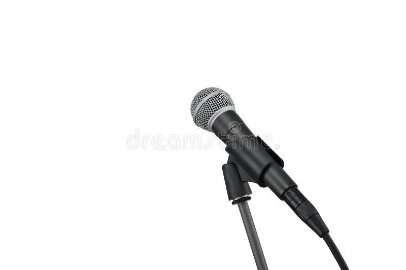 Μικρόφωνο στο λευκό στοκ εικόνα με δικαίωμα ελεύθερης χρήσης