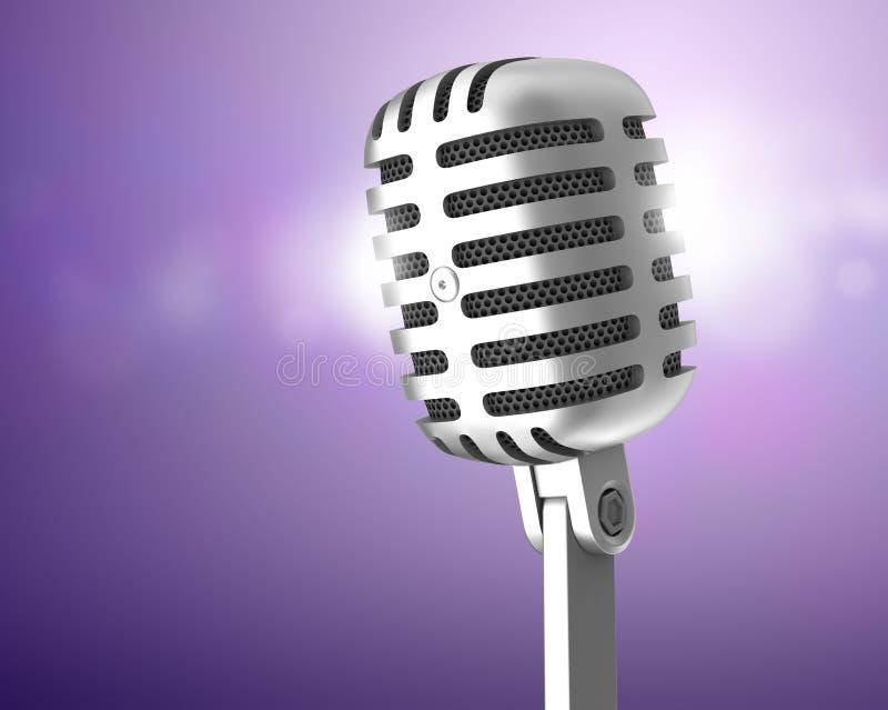 μικρόφωνο χρωμίου διανυσματική απεικόνιση