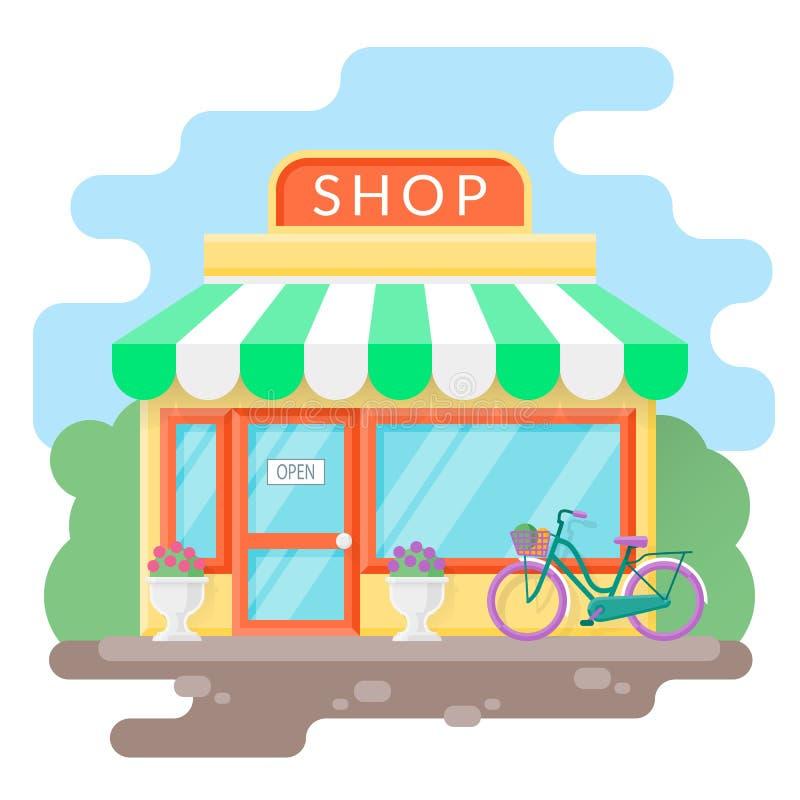 Μικρό άνετο κατάστημα στοκ εικόνες