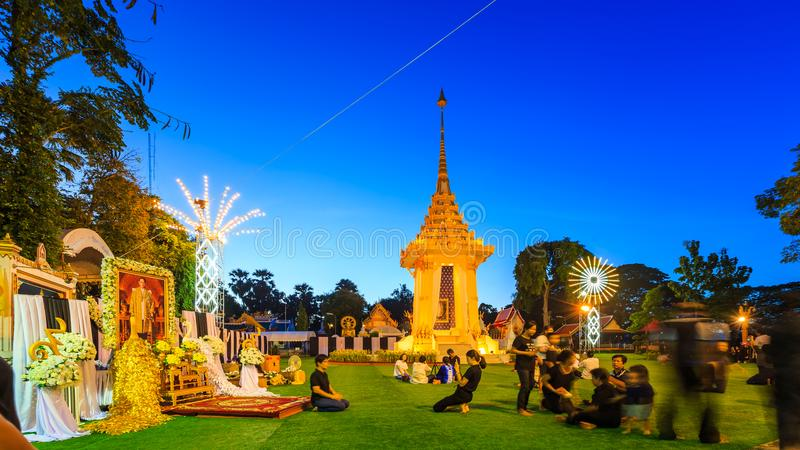 μικρό βασιλικό κρεματόριο για το βασιλιά περασμάτων της Ταϊλάνδης στοκ φωτογραφίες με δικαίωμα ελεύθερης χρήσης