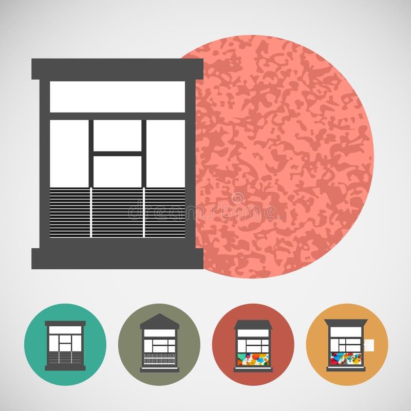 Μικρό διανυσματικό καθορισμένο σπίτι για τη λιανική πώληση οδών ελεύθερη απεικόνιση δικαιώματος