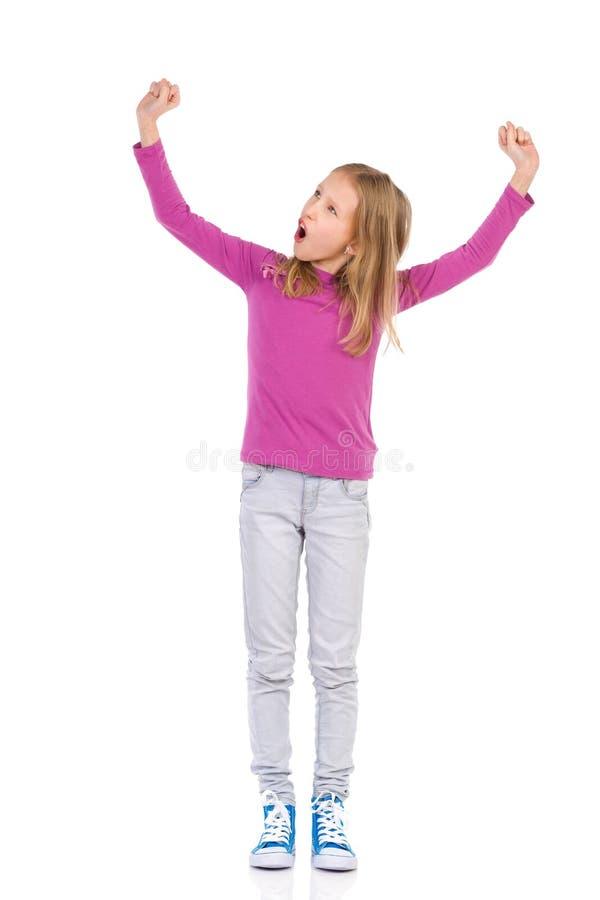 Μικρό κορίτσι νικητών στοκ εικόνα