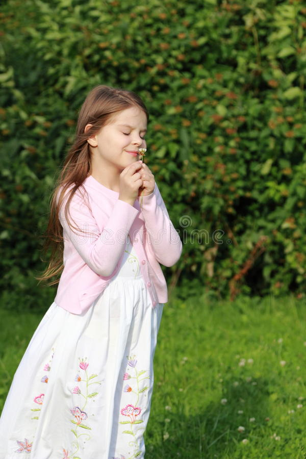 Μικρό κορίτσι στο καλοκαίρι στοκ εικόνα