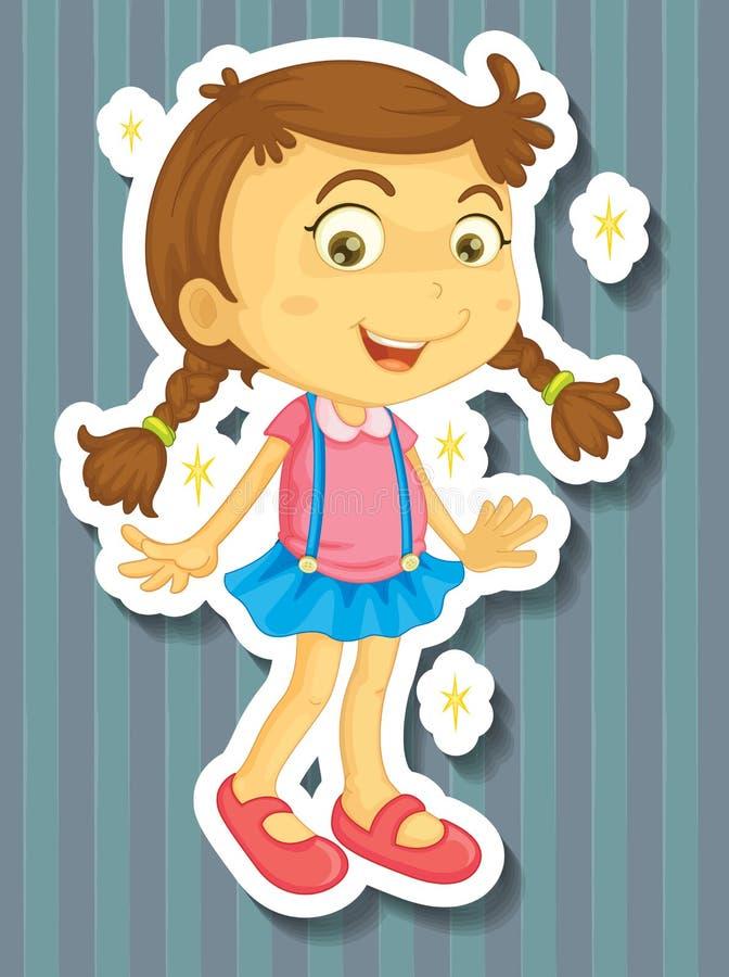 Μικρό κορίτσι στο νέο φόρεμα απεικόνιση αποθεμάτων