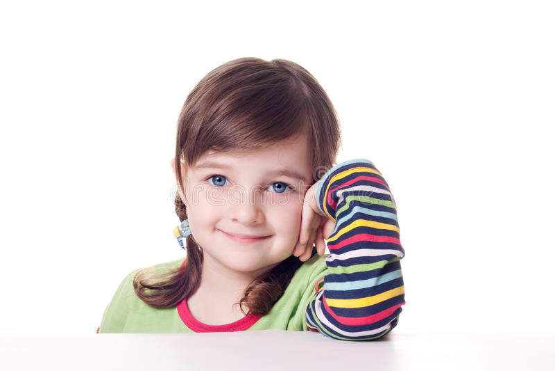 Μικρό κορίτσι χαμόγελου στοκ εικόνα με δικαίωμα ελεύθερης χρήσης