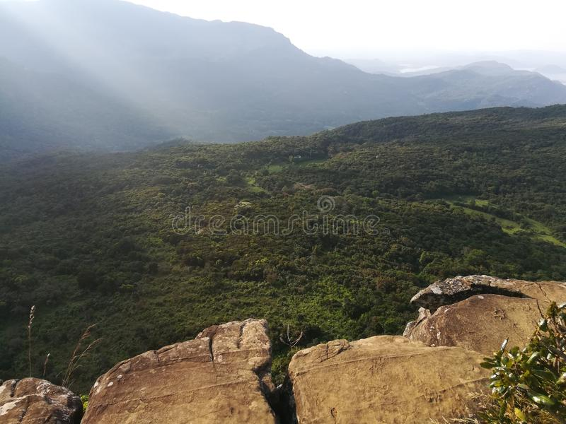 Μικρό παγκόσμιο τέλος στην όμορφη φύση στη Σρι Λάνκα στοκ φωτογραφίες με δικαίωμα ελεύθερης χρήσης