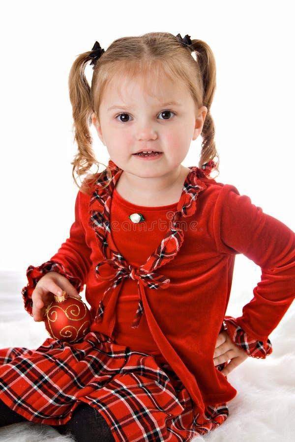 μικρό παιδί κοριτσιών Χριστ& στοκ φωτογραφία με δικαίωμα ελεύθερης χρήσης