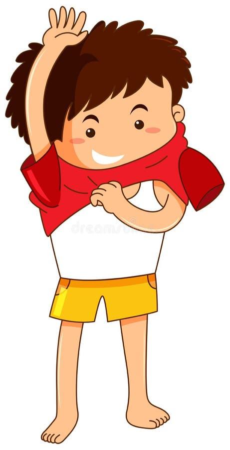 Μικρό παιδί που παίρνει το φόρεμα ελεύθερη απεικόνιση δικαιώματος