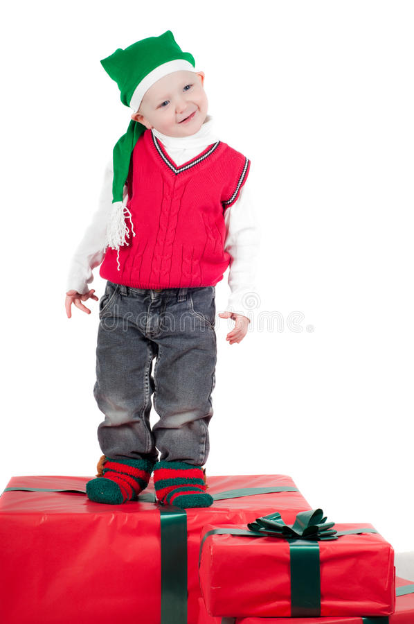 μικρό παιδί χριστουγεννιά&ta στοκ εικόνες με δικαίωμα ελεύθερης χρήσης
