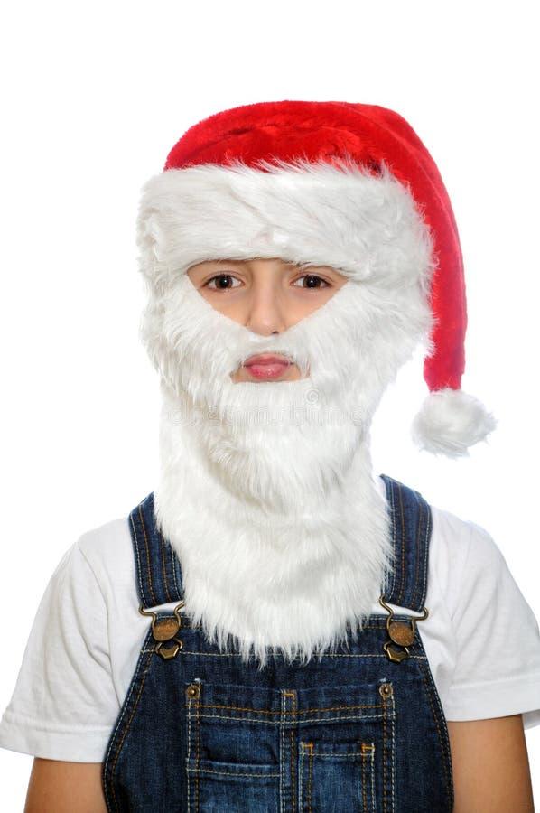 Μικρό παιδί στο κόκκινο καπέλο Santa στοκ φωτογραφία με δικαίωμα ελεύθερης χρήσης