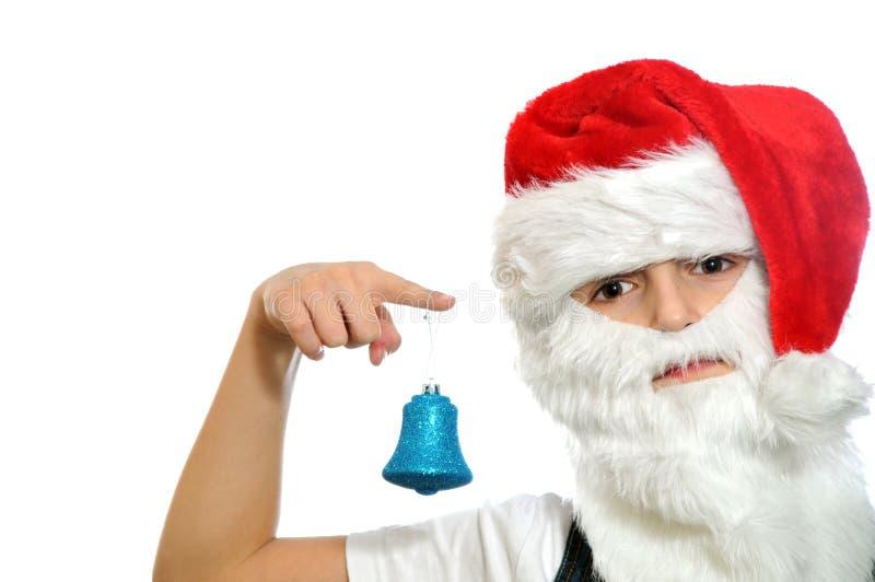 Μικρό παιδί στο κόκκινο καπέλο Santa στοκ φωτογραφίες με δικαίωμα ελεύθερης χρήσης