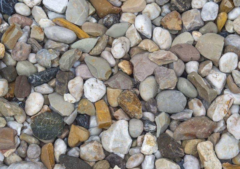 Μικρό πολυ υπόβαθρο πετρών χαλικιών χρώματος στοκ εικόνες με δικαίωμα ελεύθερης χρήσης