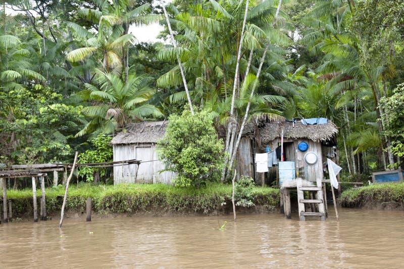 Μικρό σπίτι στο Αμαζόνιο στοκ φωτογραφίες με δικαίωμα ελεύθερης χρήσης