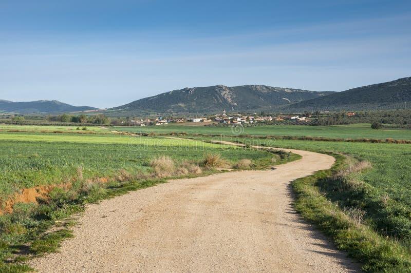 Μικρό χωριουδάκι στο Λα Mancha, Ισπανία στοκ εικόνες με δικαίωμα ελεύθερης χρήσης