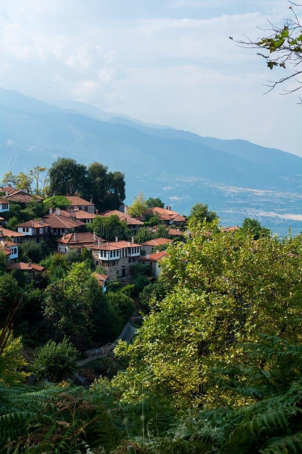 Μικρό χωριό, βουνό Olympus, Ελλάδα στοκ φωτογραφία