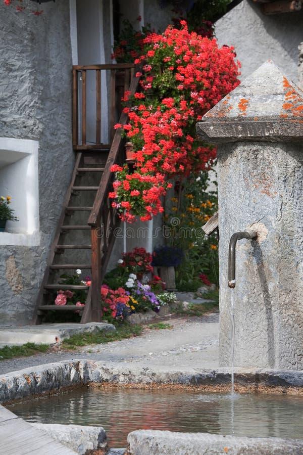 μικρό χωριό πηγών στοκ εικόνα