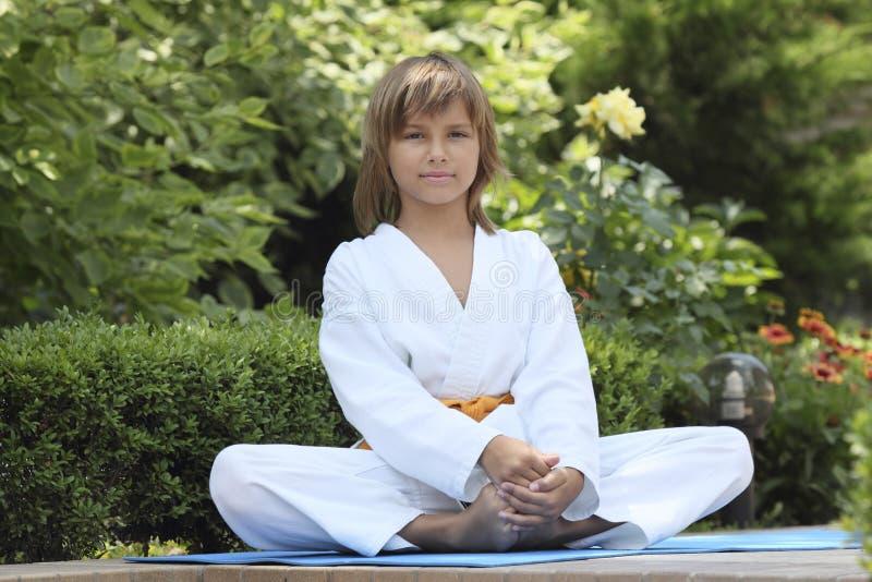 Μικρό karate στοκ εικόνες με δικαίωμα ελεύθερης χρήσης