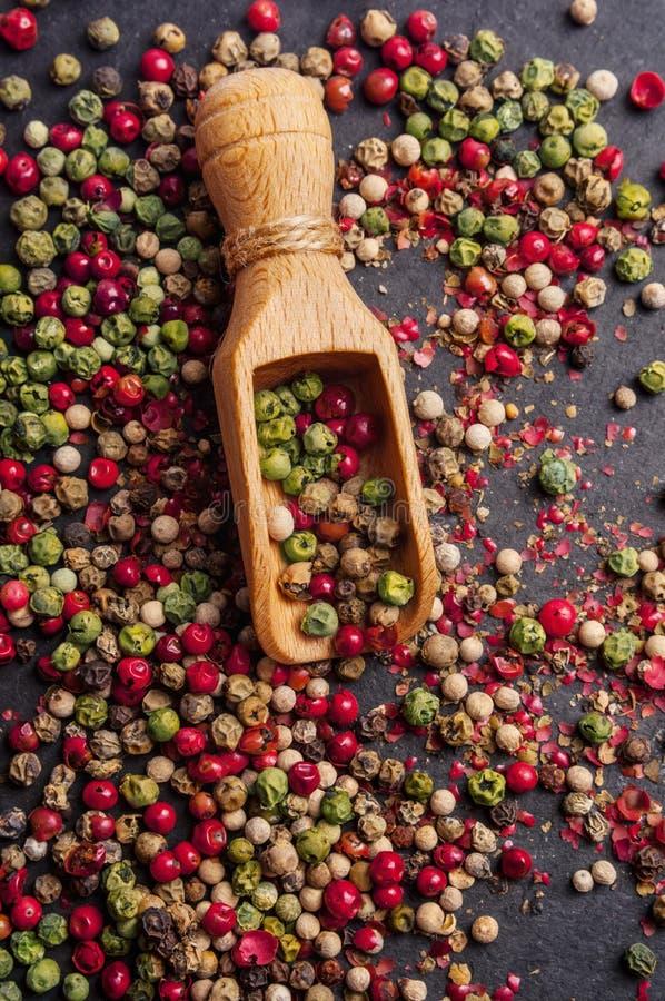 Μικτά peppercorns στοκ εικόνα