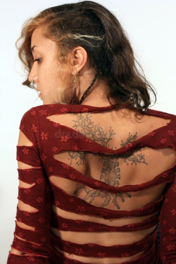 μικτές πορτρέτου νεολαίες γυναικών φυλών αναδρομικές στοκ φωτογραφία