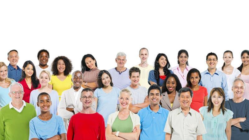 Μικτή ομάδα ανθρώπων στοκ εικόνες με δικαίωμα ελεύθερης χρήσης