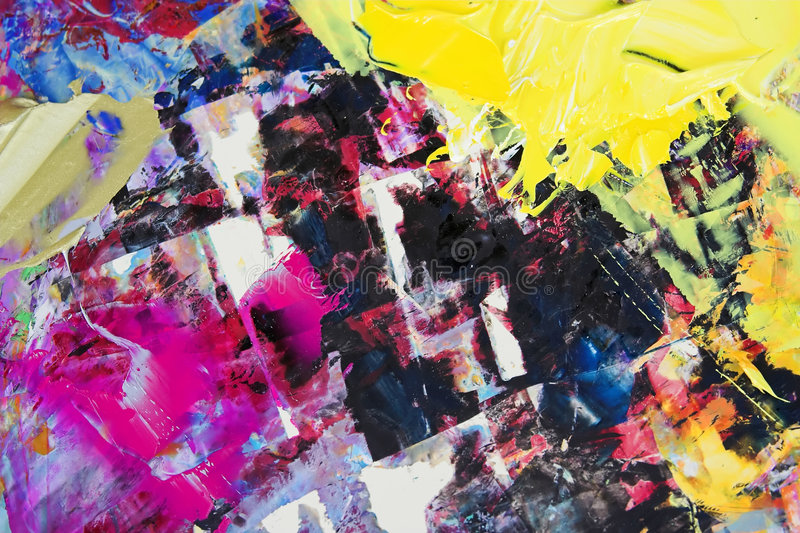 μικτό χρώματα πετρέλαιο στοκ εικόνες