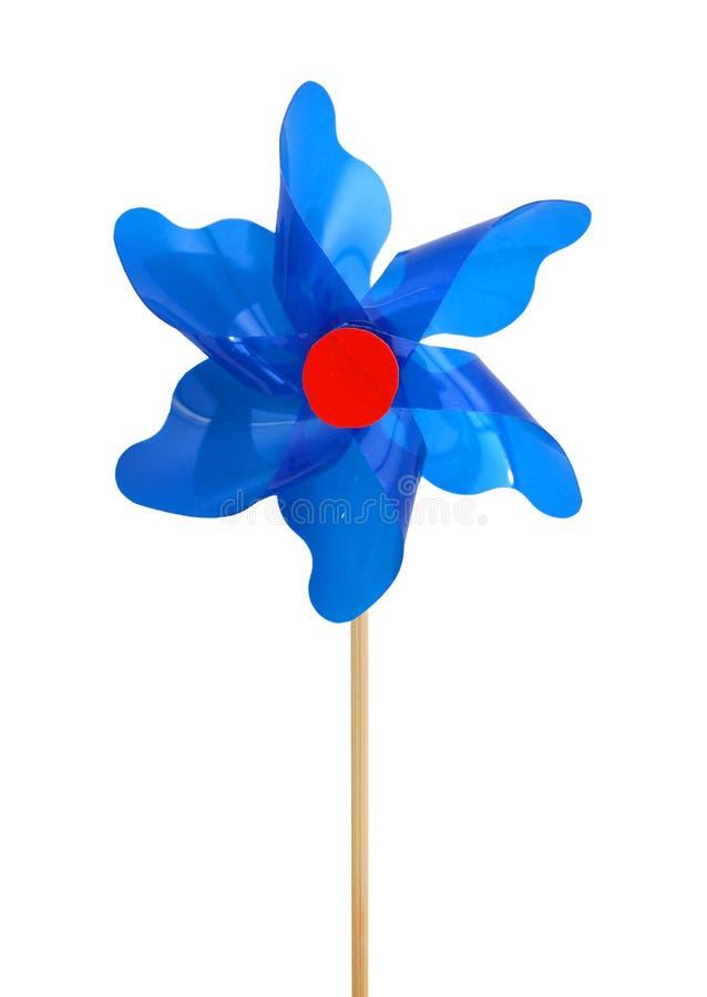 Μικτό χρώμα Pinwheel, ανεμιστήρας παιχνιδιών που απομονώνεται στοκ εικόνα με δικαίωμα ελεύθερης χρήσης