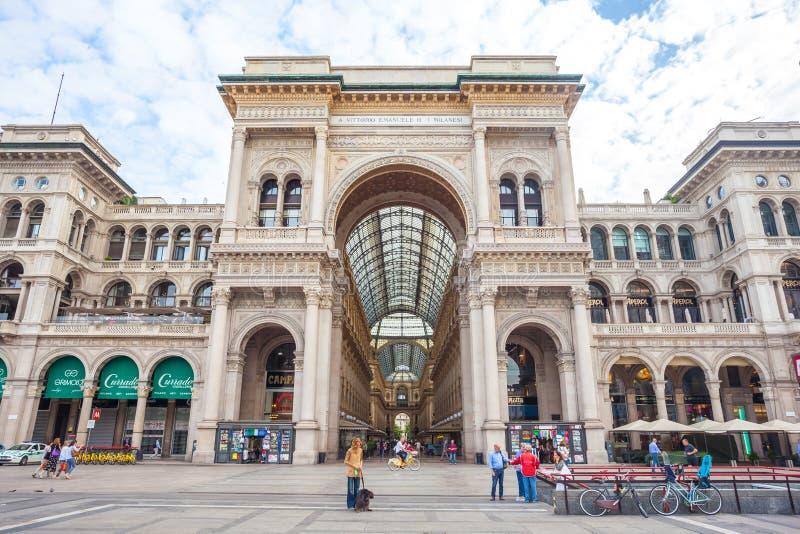 Μιλάνο, Ιταλία - 25 06 2018: Είσοδος σε Galleria Vittorio Emanuel στοκ φωτογραφίες