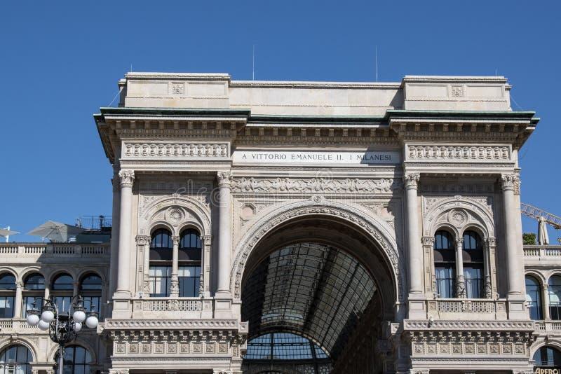 Μιλάνο, Ιταλία, Ευρώπη, στοά, Galleria Vittorio Emanuele ΙΙ, αγορές, λεωφόρος, αρχιτεκτονική, ανώτατο όριο, Victor Emmanuel ΙΙ το στοκ φωτογραφία με δικαίωμα ελεύθερης χρήσης