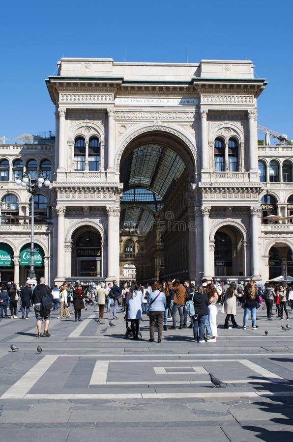 Μιλάνο, Ιταλία, Ευρώπη, στοά, Galleria Vittorio Emanuele ΙΙ, αγορές, λεωφόρος, αρχιτεκτονική, ανώτατο όριο, Victor Emmanuel ΙΙ το στοκ εικόνες με δικαίωμα ελεύθερης χρήσης