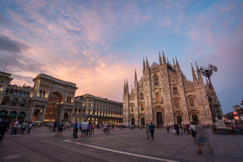 Μιλάνο, Ιταλία - 14 08 2018: Καθεδρικός ναός του Μιλάνου, Di Μιλάνο, Ιταλία, μια Duomo από τις μεγαλύτερες εκκλησίες στον κόσμο Β στοκ φωτογραφίες