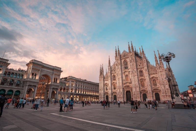 Μιλάνο, Ιταλία - 14 08 2018: Καθεδρικός ναός του Μιλάνου, Di Μιλάνο, Ιταλία, μια Duomo από τις μεγαλύτερες εκκλησίες στον κόσμο Β στοκ φωτογραφία