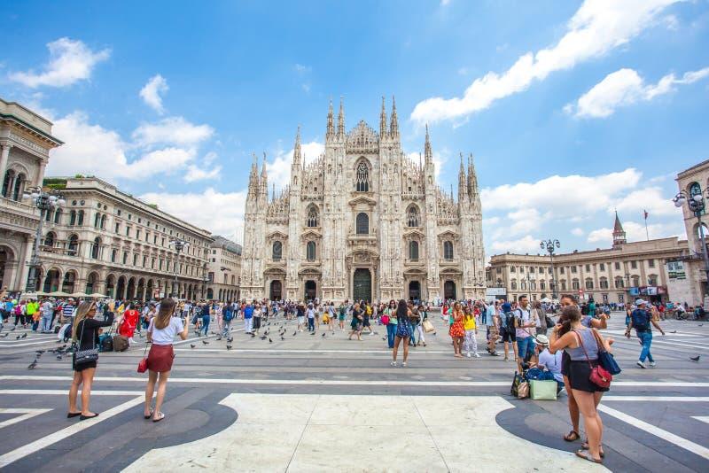 Μιλάνο, Ιταλία - 25 06 2018: Ο καθεδρικός ναός του Μιλάνου είναι ο καθεδρικός ναός chur στοκ φωτογραφίες