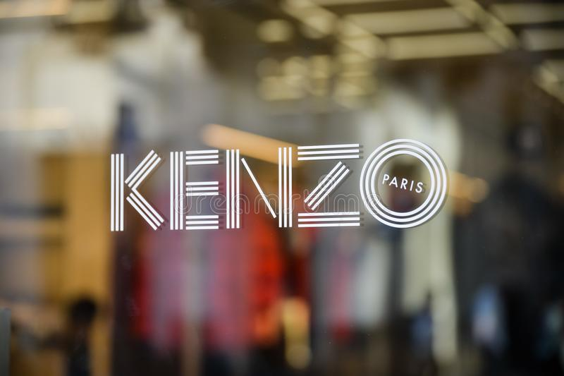 Μιλάνο, Ιταλία - 24 Σεπτεμβρίου 2017: Κατάστημα Kenzo στο Μιλάνο Fashio στοκ φωτογραφία με δικαίωμα ελεύθερης χρήσης
