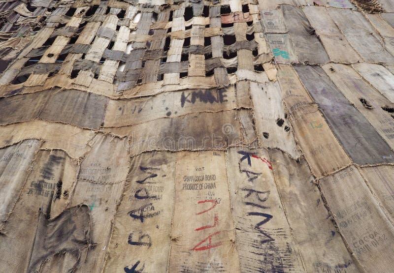 """Μιλάνο, Ιταλία: Στις 6 Απριλίου 2019: Άποψη εβδομάδας 2019 τέχνης εγκαταστάσεων """"φίλων """"της συγκεκριμένης στοκ φωτογραφία"""