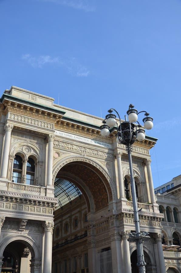 Μιλάνο, Ιταλία 10 05 2015: Το Galleria Vittorio Emanuele ΙΙ στοκ εικόνες με δικαίωμα ελεύθερης χρήσης