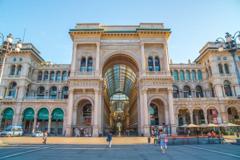 Μιλάνο, Ιταλία - 14 08 2018: Galleria Vittorio Emanuele ΙΙ σε Piaz στοκ φωτογραφία με δικαίωμα ελεύθερης χρήσης