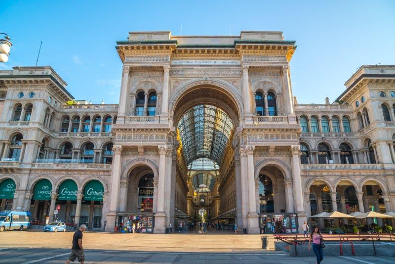 Μιλάνο, Ιταλία - 14 08 2018: Galleria Vittorio Emanuele ΙΙ σε Piaz στοκ εικόνα