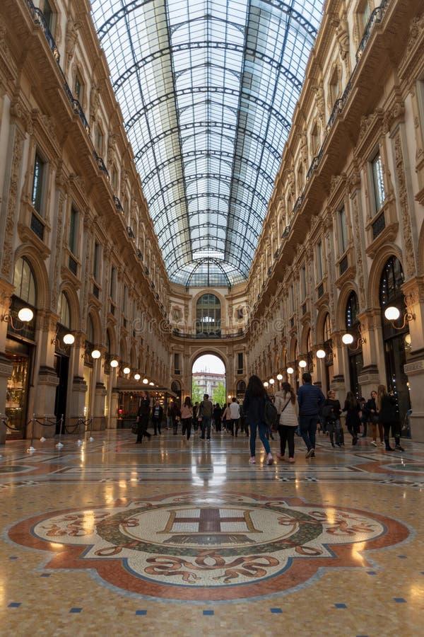 Μιλάνο, Vittorio Emanuele ΙΙ στοά στοκ εικόνες με δικαίωμα ελεύθερης χρήσης