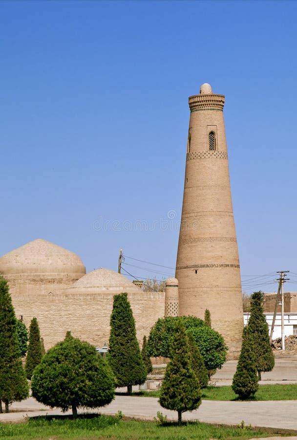 Μιναρές στο Ουζμπεκιστάν στοκ φωτογραφία
