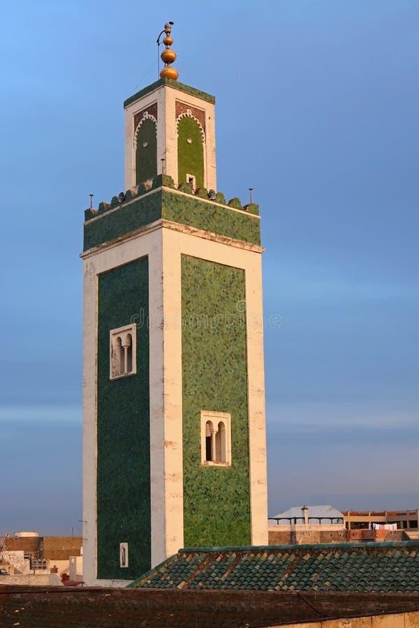 Μιναρές του μουσουλμανικού τεμένους Grande Bou Inania Madrasa, Meknes, Μαρόκο στοκ φωτογραφίες