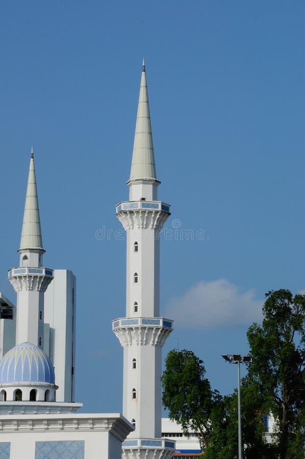 Μιναρές του σουλτάνου Ahmad Shah 1 μουσουλμανικό τέμενος σε Kuantan στοκ φωτογραφίες