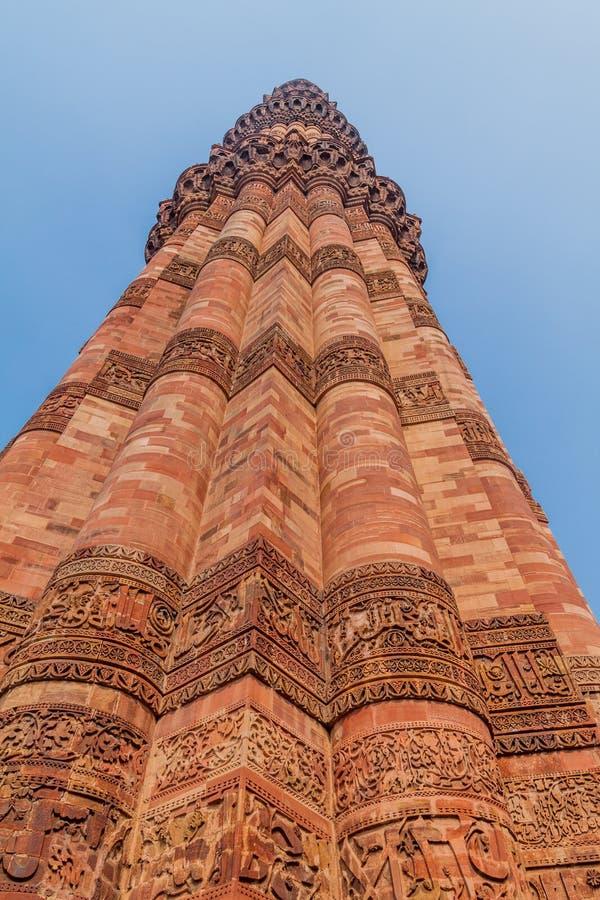 Μιναρές Minar Qutub στο Δελχί, IND στοκ εικόνες