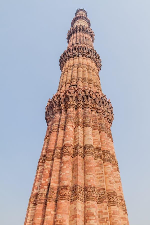 Μιναρές Minar Qutub στο Δελχί, IND στοκ εικόνα με δικαίωμα ελεύθερης χρήσης