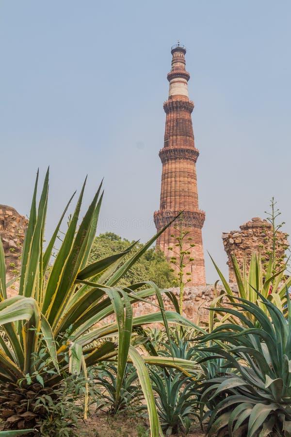 Μιναρές Minar Qutub στο Δελχί, Indi στοκ φωτογραφίες