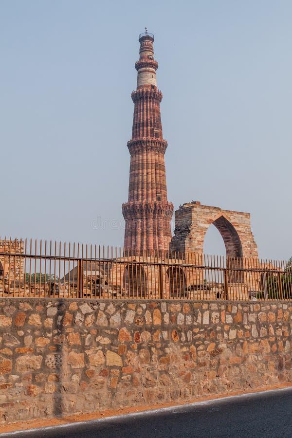 Μιναρές Minar Qutub στο Δελχί, Indi στοκ εικόνες
