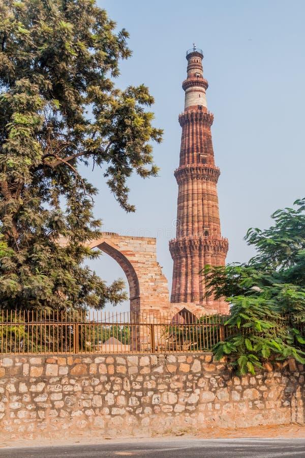 Μιναρές Minar Qutub στο Δελχί, Indi στοκ φωτογραφία με δικαίωμα ελεύθερης χρήσης