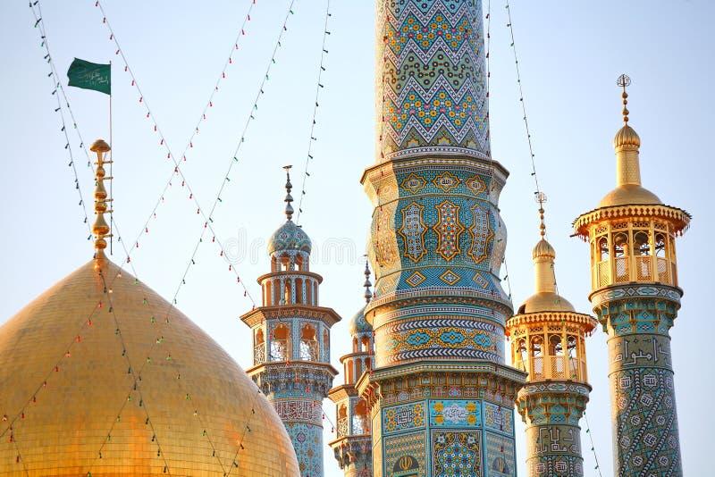 μιναρή του Ιράν qom στοκ φωτογραφίες