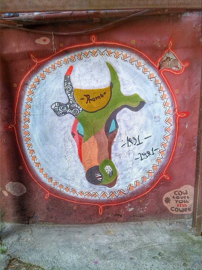 Μινσκ ζωηρόχρωμος καλυμμένος τοίχος οδών γκράφιτι τέχνης γκράφιτι στοκ φωτογραφία με δικαίωμα ελεύθερης χρήσης
